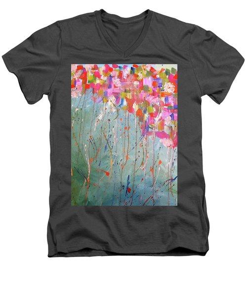 Love Flower Mountain Men's V-Neck T-Shirt