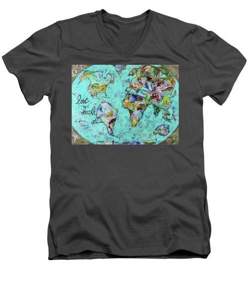 Love Heals All Men's V-Neck T-Shirt by Kirsten Reed