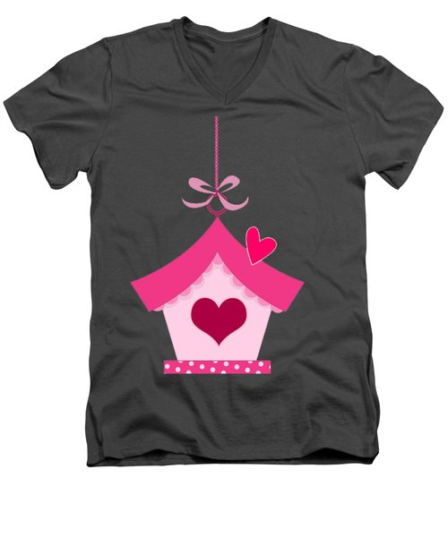 Love House T-shirt Men's V-Neck T-Shirt