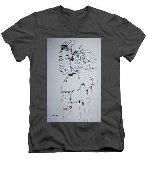 Love Is A Heartt Men's V-Neck T-Shirt