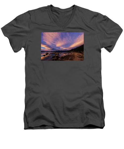 Love Is A Rocky Road Men's V-Neck T-Shirt by Sean Sarsfield