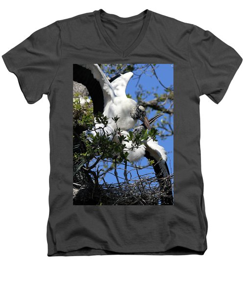 Love Is In The Air Men's V-Neck T-Shirt by Lamarre Labadie