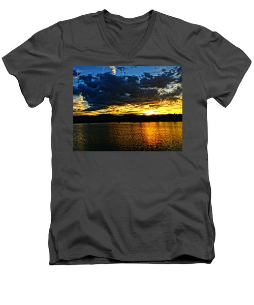 Love Lake Men's V-Neck T-Shirt by Eric Dee