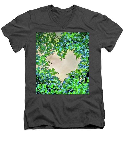 Love Leaves Men's V-Neck T-Shirt by Az Jackson