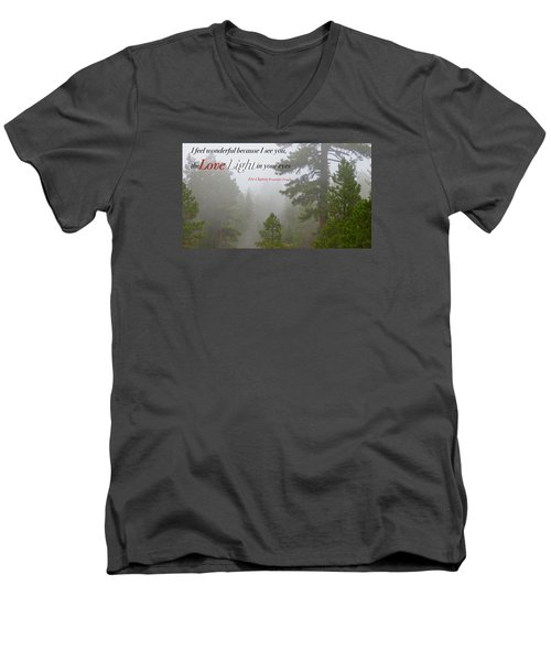Men's V-Neck T-Shirt featuring the photograph Love Light by David Norman