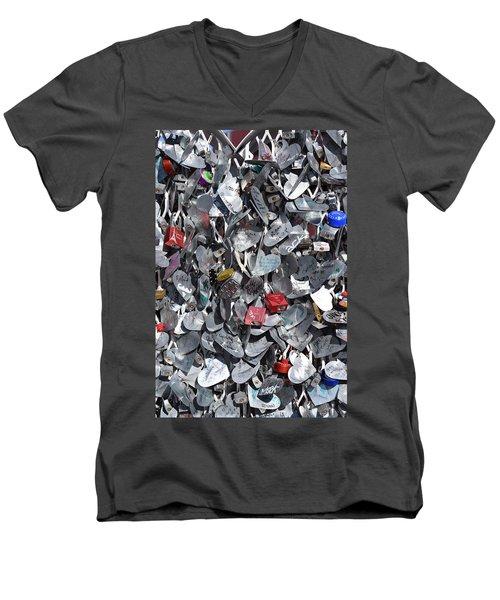 Love Locks On Fremont Street Men's V-Neck T-Shirt