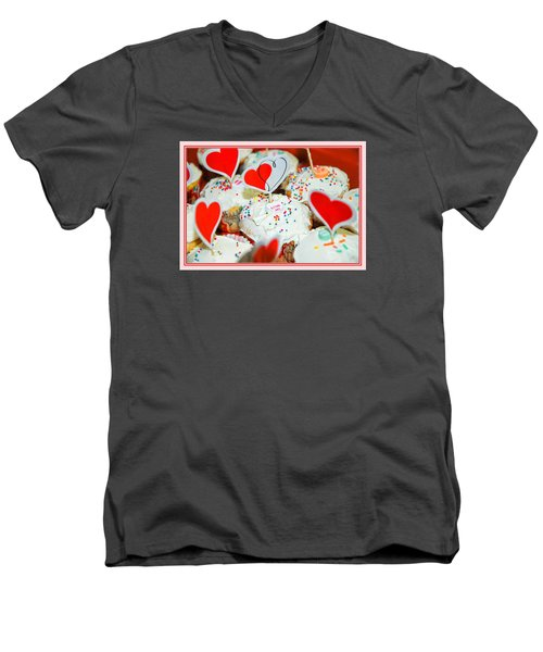 Men's V-Neck T-Shirt featuring the photograph Love Me by Mary Timman