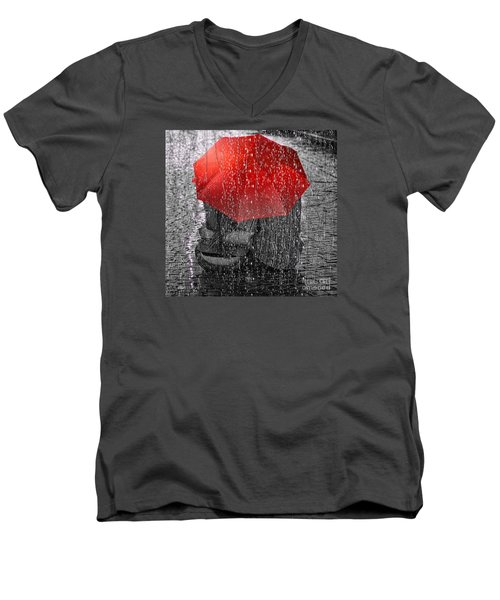 Love Men's V-Neck T-Shirt by Mo T