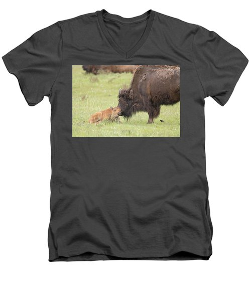 Love My Mama Men's V-Neck T-Shirt