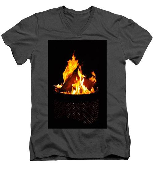 Love Of Fire Men's V-Neck T-Shirt