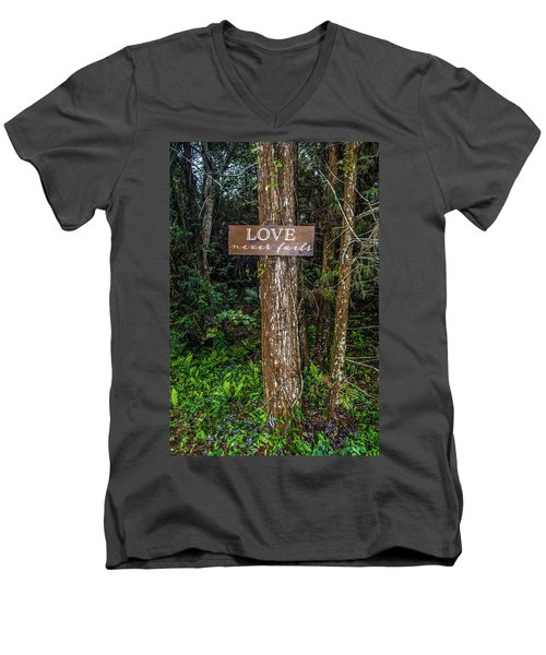 Love On A Tree Men's V-Neck T-Shirt by Josy Cue
