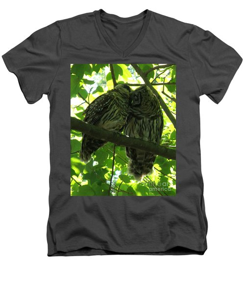 Love Owls Men's V-Neck T-Shirt