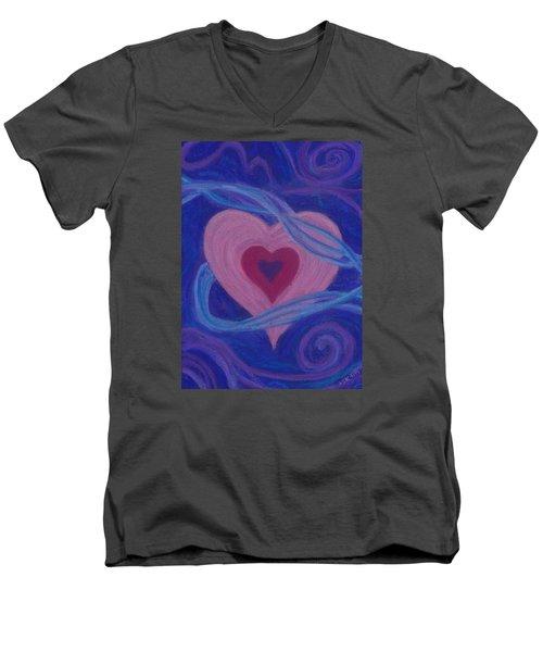 Love Ribbons Men's V-Neck T-Shirt