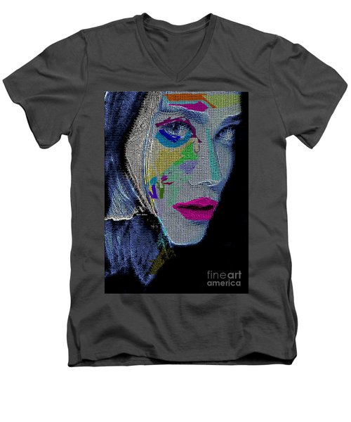 Men's V-Neck T-Shirt featuring the digital art Love The Way You Look by Rafael Salazar