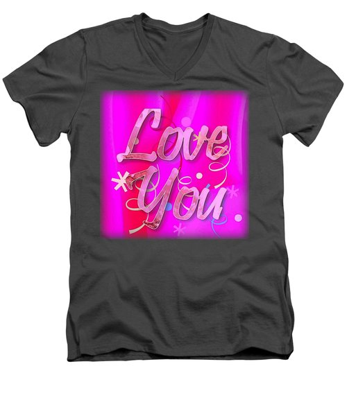Love You Pink Cushion Men's V-Neck T-Shirt