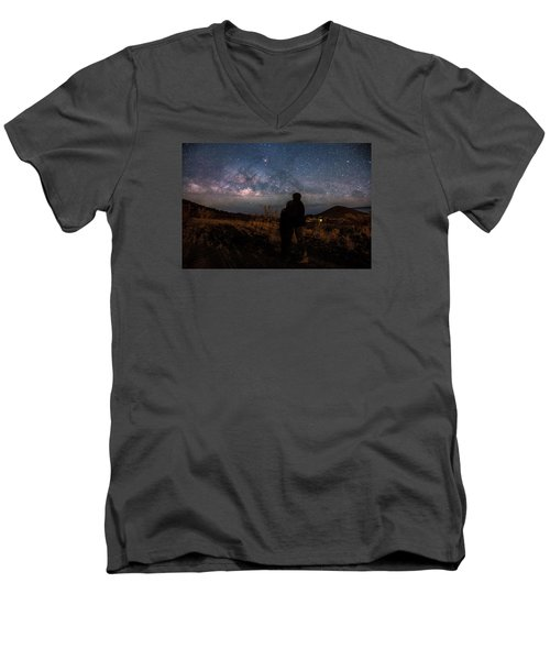 Loveing The  Universe Men's V-Neck T-Shirt
