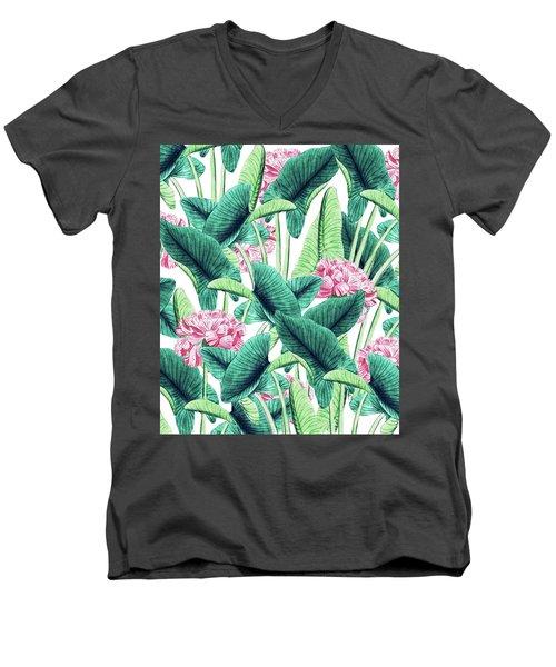 Lovely Botanical Men's V-Neck T-Shirt
