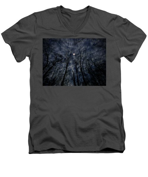 Men's V-Neck T-Shirt featuring the photograph Lovely Dark And Deep by Robert Geary