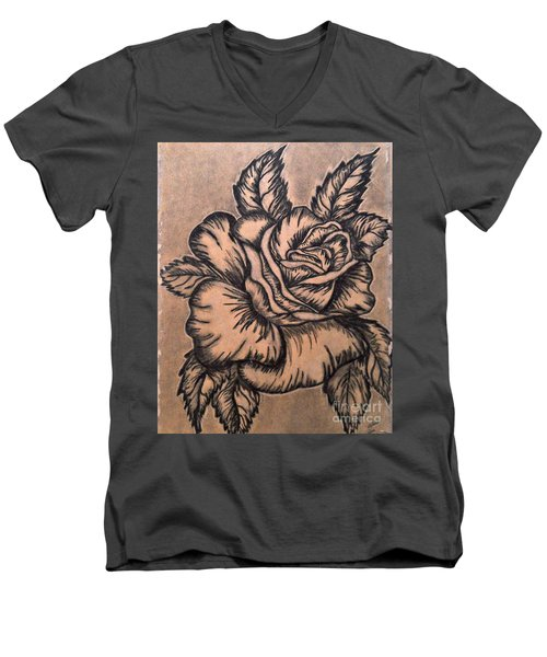 Lovely Rose Men's V-Neck T-Shirt