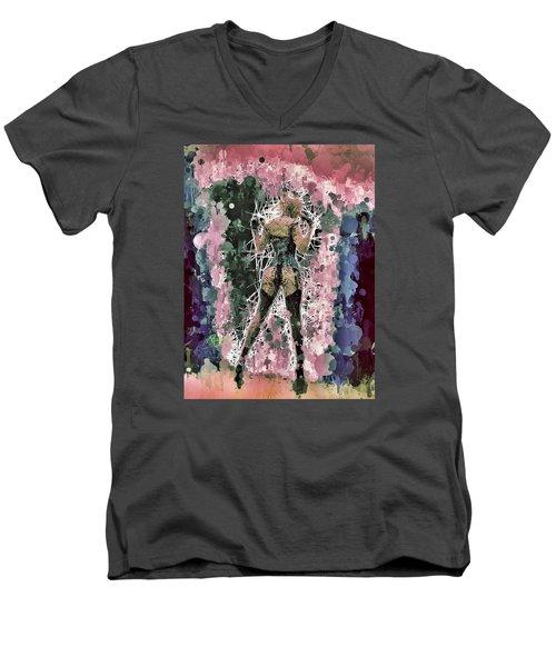 Lovely Silhouette Men's V-Neck T-Shirt