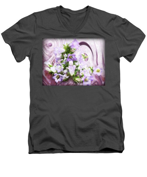 Lovely Spring Flowers Men's V-Neck T-Shirt by Gabriella Weninger - David