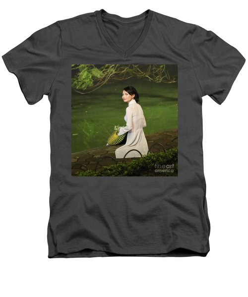 Lovely Vietnamese Woman  Men's V-Neck T-Shirt by Chuck Kuhn
