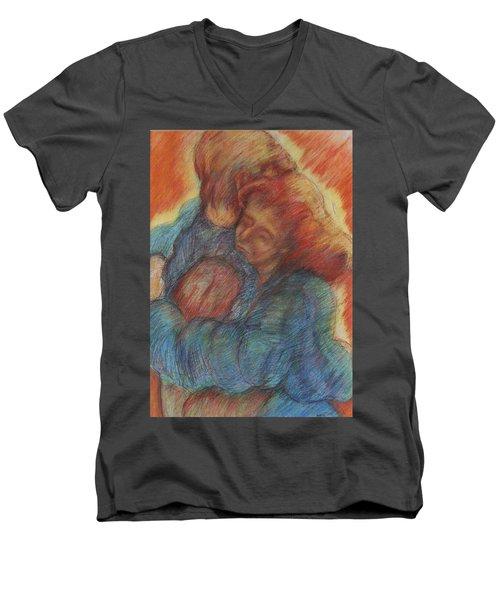 Lovers Embrace Men's V-Neck T-Shirt