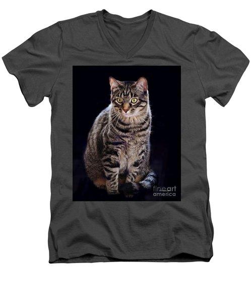 Loving Joseph Men's V-Neck T-Shirt by Kathy M Krause