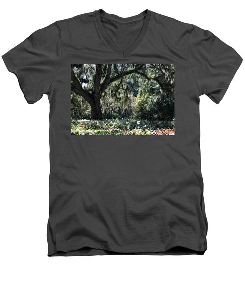 Men's V-Neck T-Shirt featuring the photograph Low Country Series II by Suzanne Gaff