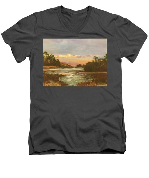 Low Country Sunset Men's V-Neck T-Shirt