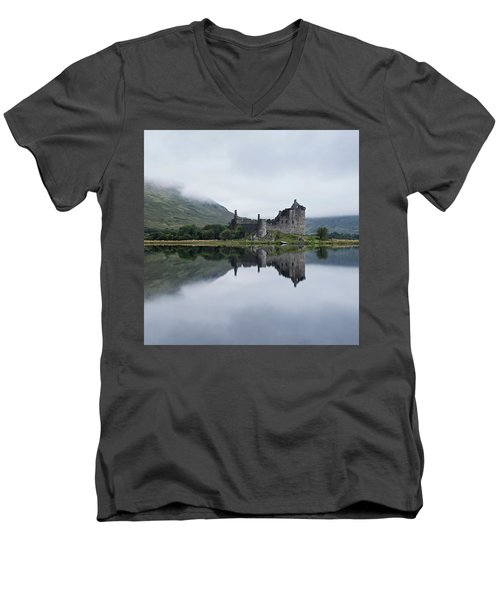 Low Mist At Kilchurn Men's V-Neck T-Shirt