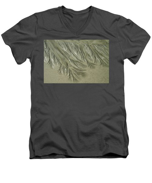 Low Tide Abstracts Iv Men's V-Neck T-Shirt