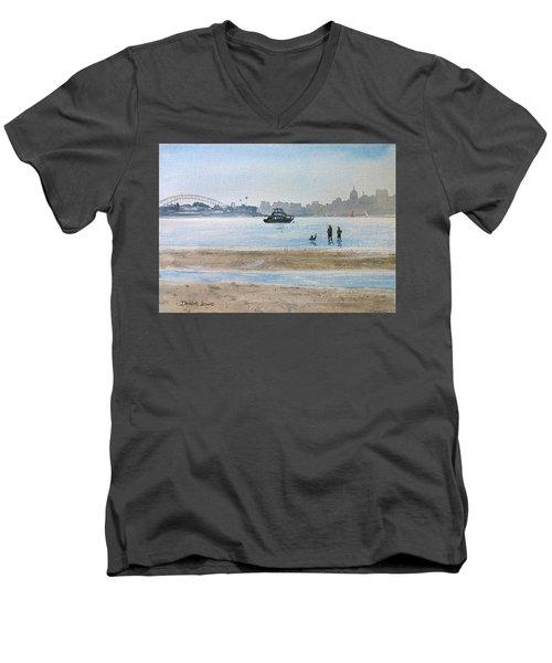 Low Tide At Rose Bay Men's V-Neck T-Shirt