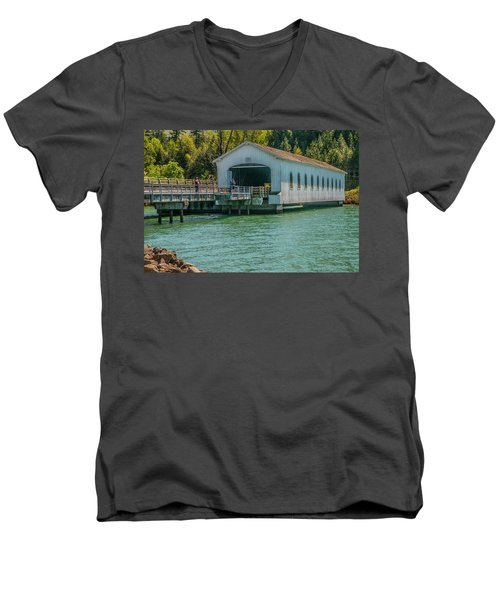 Lowell Covered Bridge Men's V-Neck T-Shirt