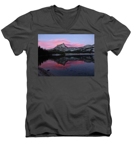 Lower Cathedral Lake Sunset Men's V-Neck T-Shirt by Amelia Racca