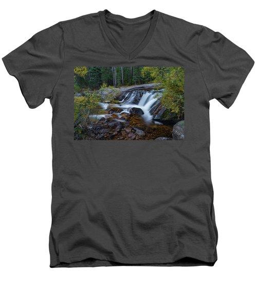Lower Copeland Falls Men's V-Neck T-Shirt by Gary Lengyel
