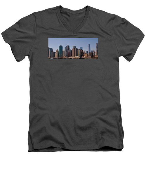 Lower Manhattan Nyc #2 Men's V-Neck T-Shirt