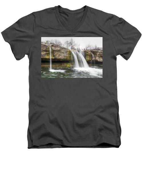 Lower Mckinney Falls Men's V-Neck T-Shirt