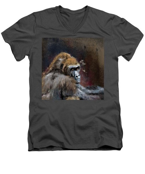Lowland Gorilla Men's V-Neck T-Shirt