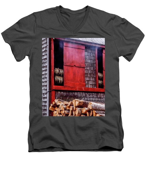 Lubec Smokehouse Men's V-Neck T-Shirt