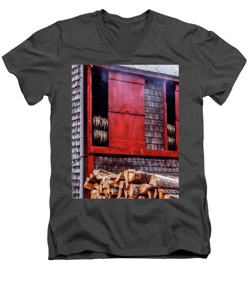Lubec Smokehouse Men's V-Neck T-Shirt