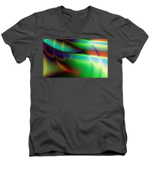 Luces Coloridas Men's V-Neck T-Shirt