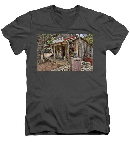 Luckenbach Post Office And General Store_2 Men's V-Neck T-Shirt