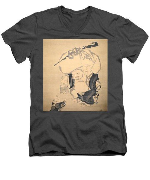 Lucky Gods Hotei Men's V-Neck T-Shirt