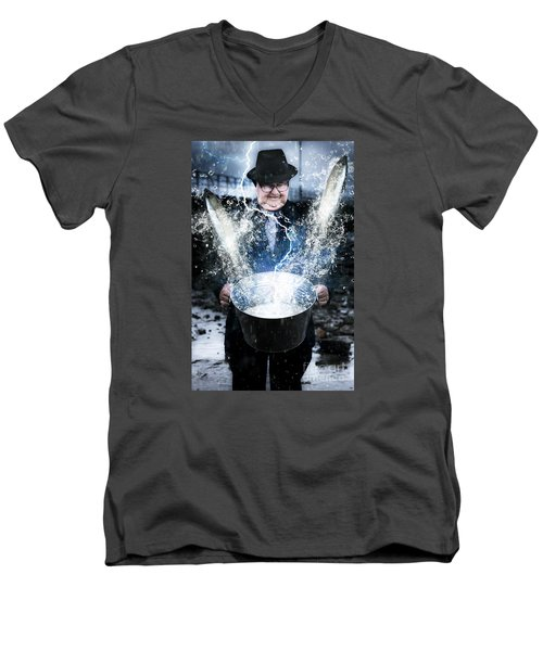 Men's V-Neck T-Shirt featuring the photograph Lucky Strike by Jorgo Photography - Wall Art Gallery