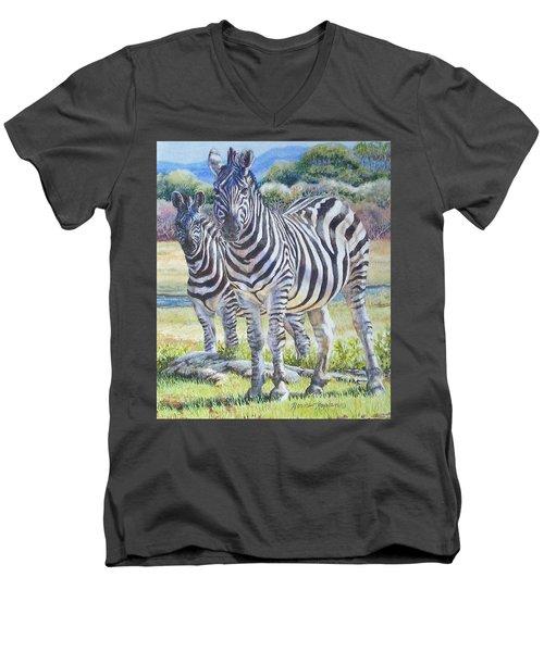 Lucky Stripes Men's V-Neck T-Shirt