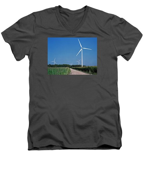Ludington Wind Farm Men's V-Neck T-Shirt