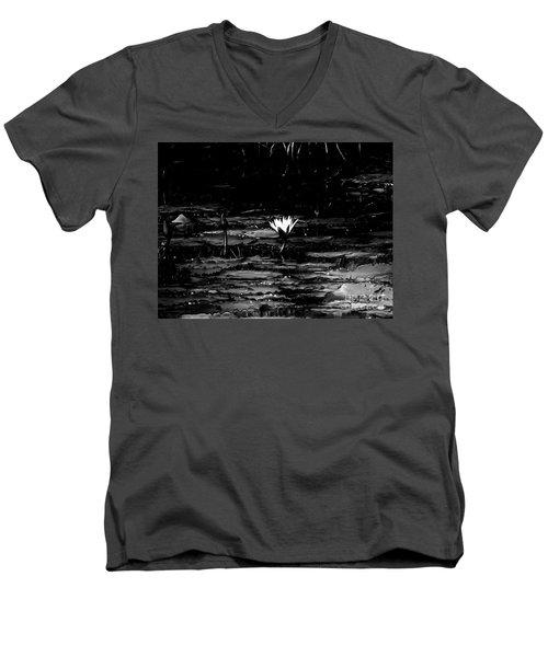 Luminous Water Lily  Men's V-Neck T-Shirt