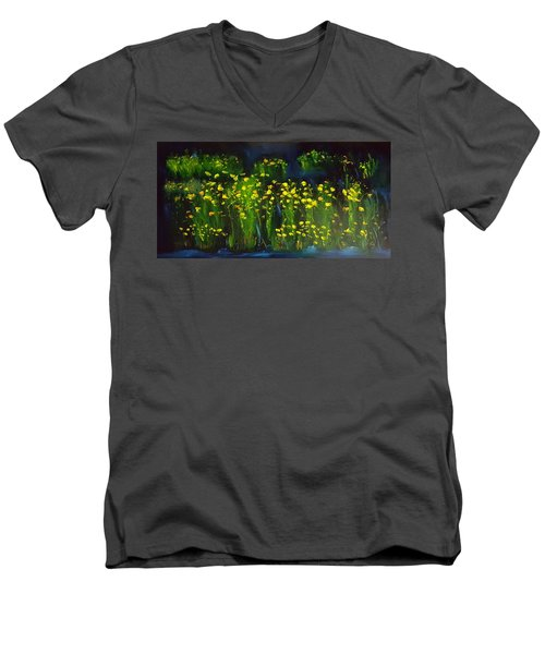 Lumonious Buds     17 Men's V-Neck T-Shirt