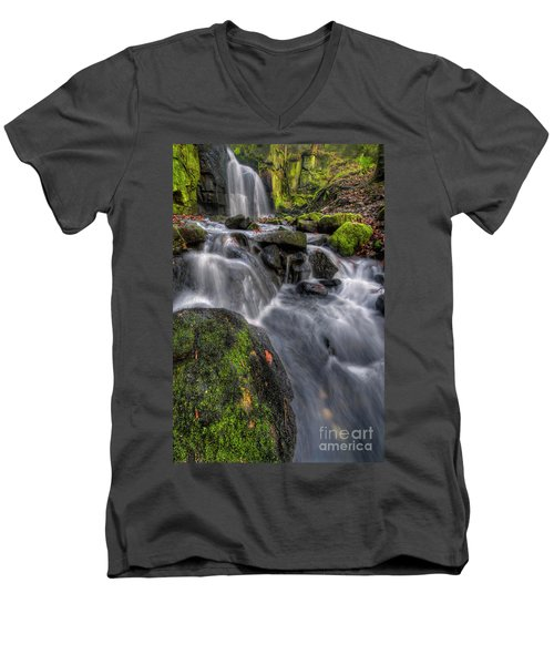 Men's V-Neck T-Shirt featuring the photograph Lumsdale Falls 5.0 by Yhun Suarez